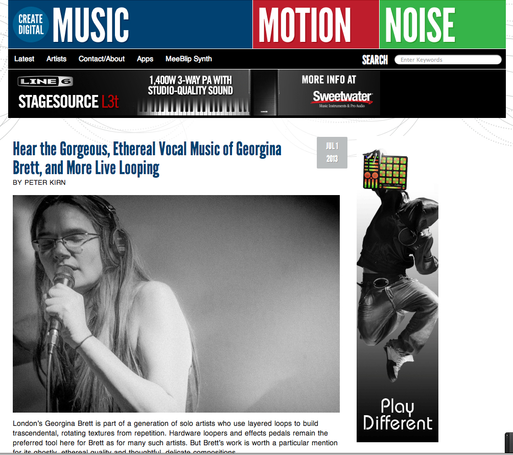 Featured on CDM website July 1st 2013