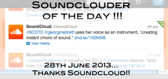 Soundcloud of the day TwitterB